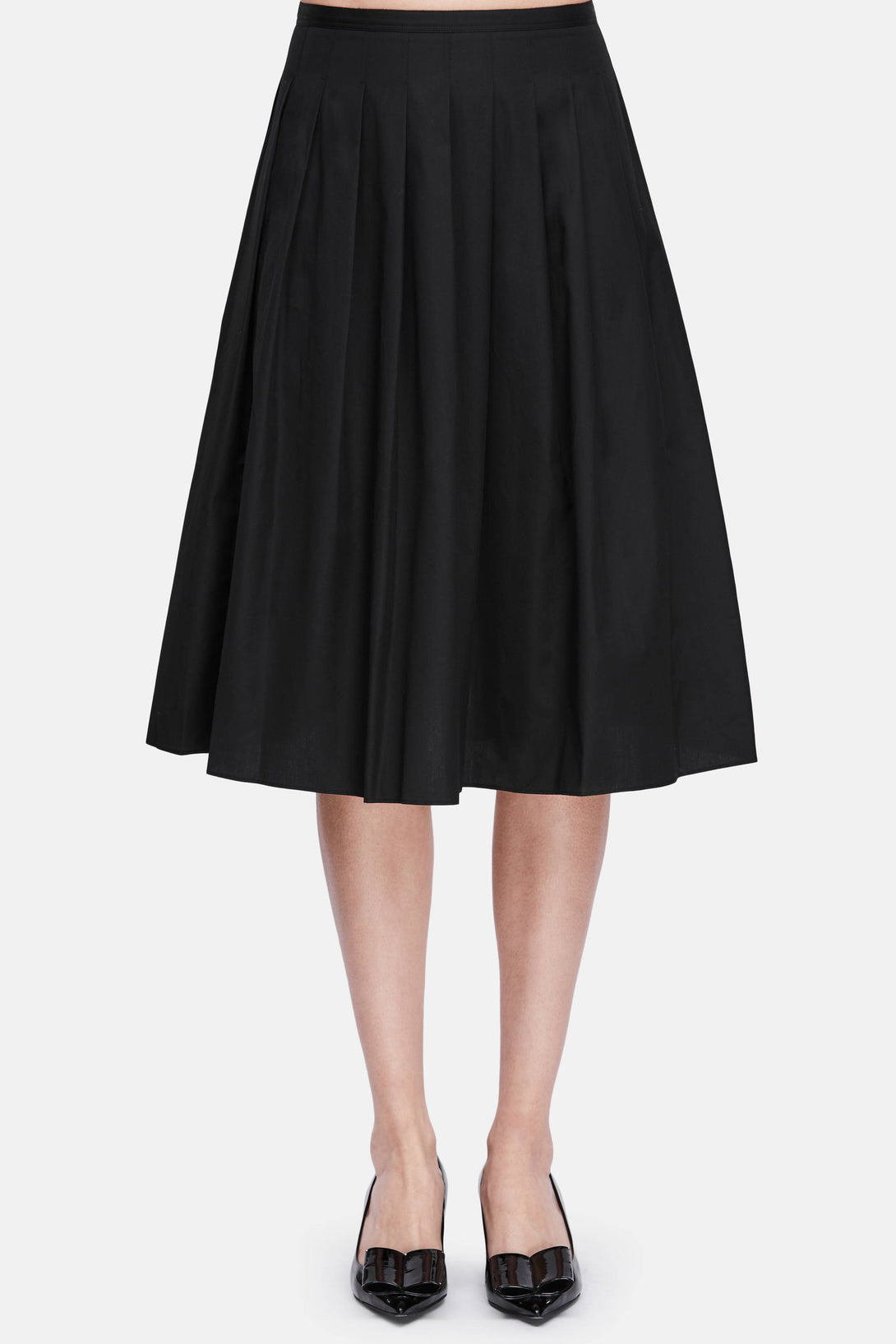 Multi Pleated Skirt - Black
