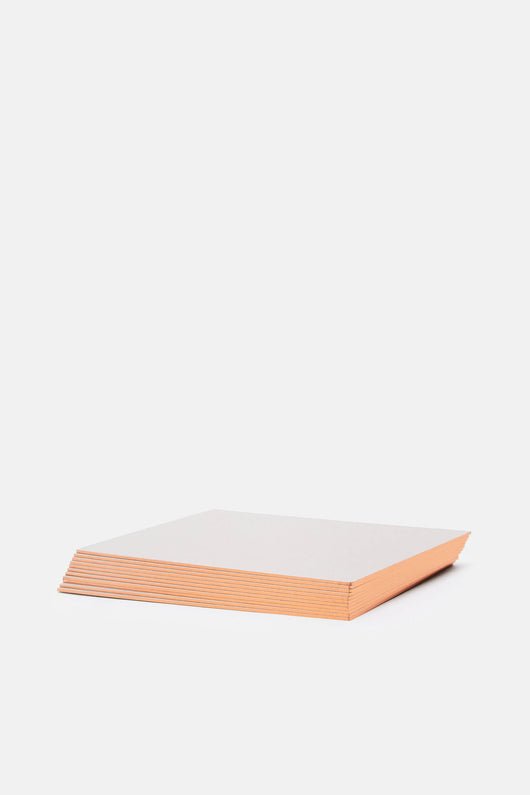 Grey Notecards with Copper Edge - Box of 16