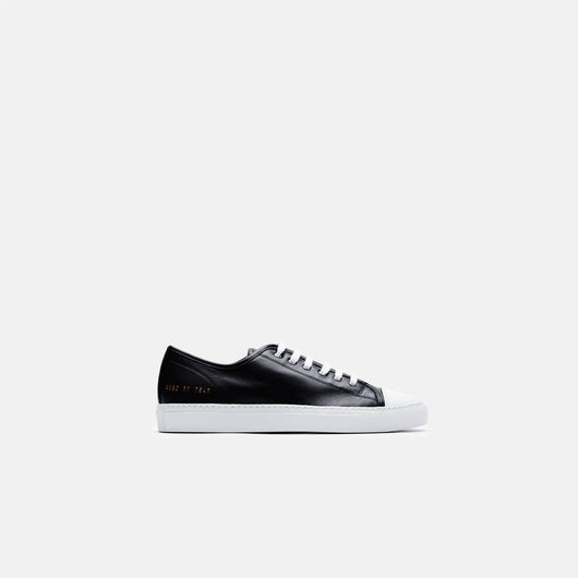 Tournament Cap Toe Low in Leather - Black