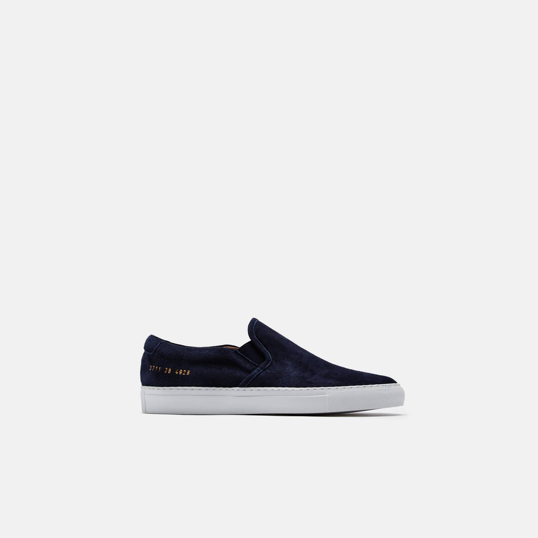 Slip-On in Waxed Suede - Navy