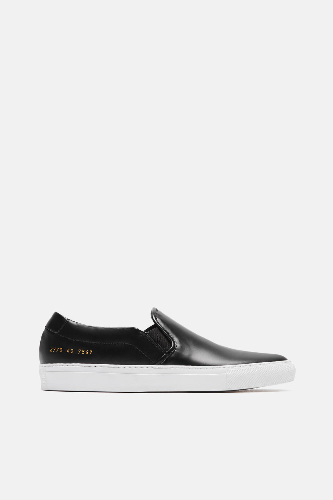 Slip On in Leather - Black