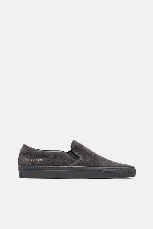 Slip On in Suede - Dark Grey