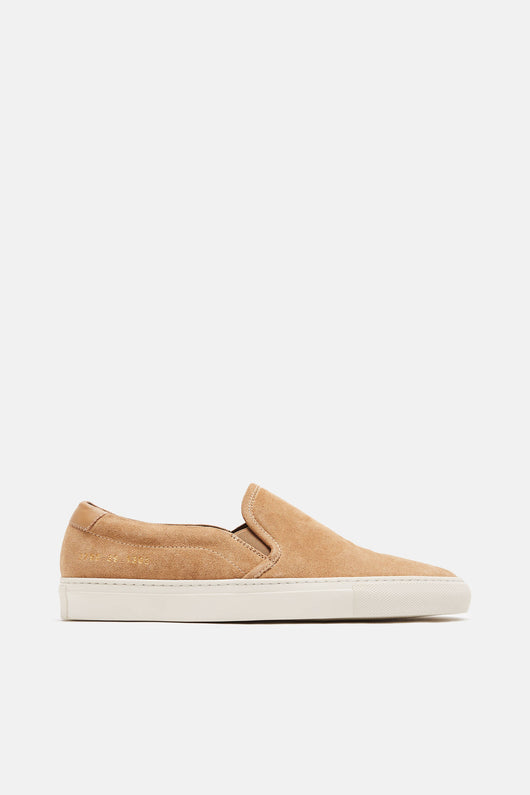Retro Slip-On in Suede - Tan