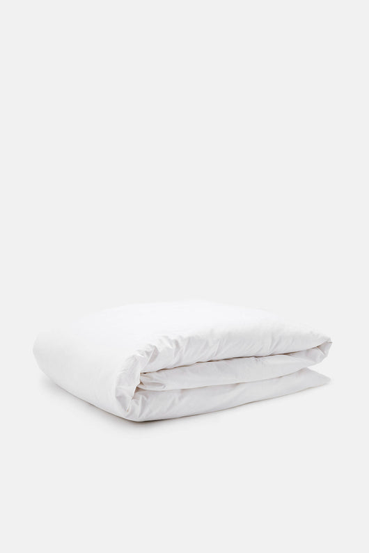 Washed Percale King/Cali King Duvet - White
