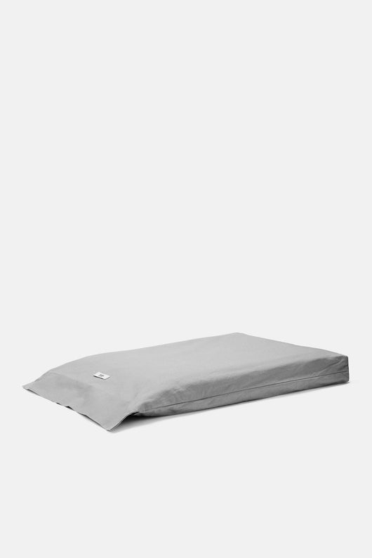 Washed Percale King Fitted Sheet - Graphite