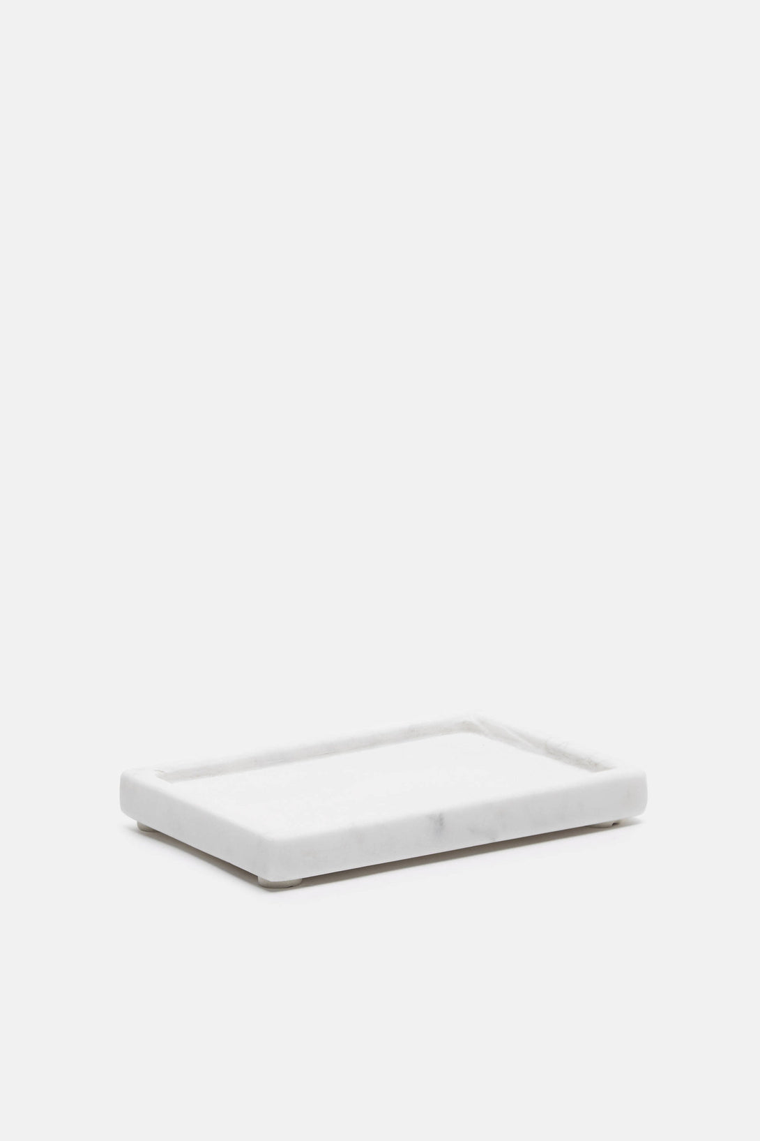 Marble Soap Dish - White