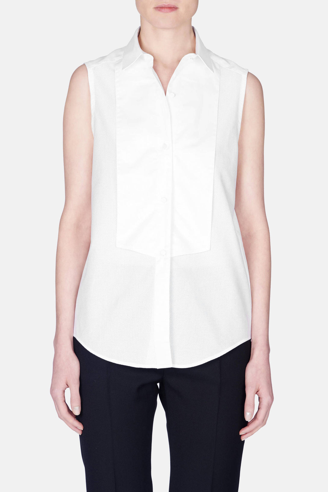Lola Sleeveless Shirt - Blanc