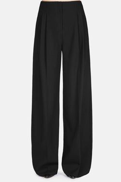 Trouser 17 Wide Leg Pleat Pants - Jet Black