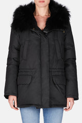 Down Cotton Tech Short Parka - Black