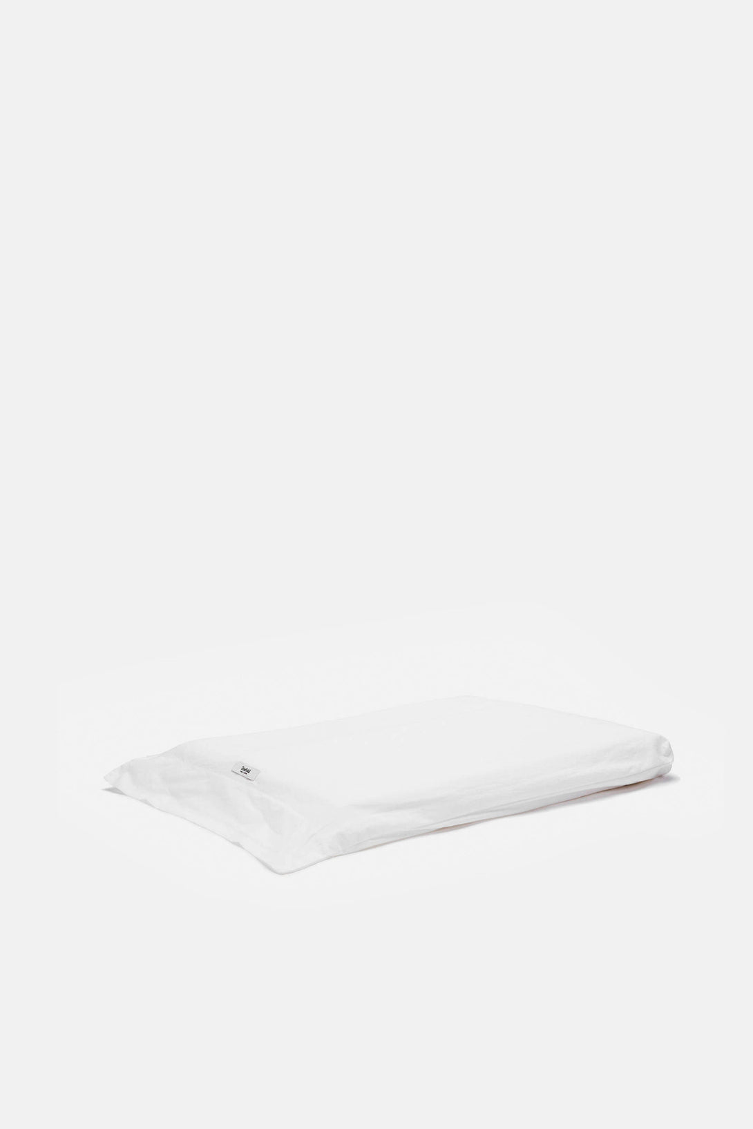 Washed Percale Full/Queen Flat Sheet - White