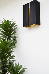 Blackened Brass Breche Bar Sconce - Large