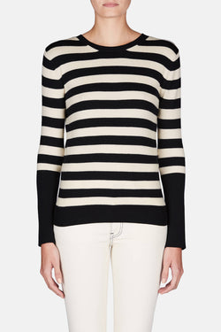 James Sweater - Navy/Ivory Stripe