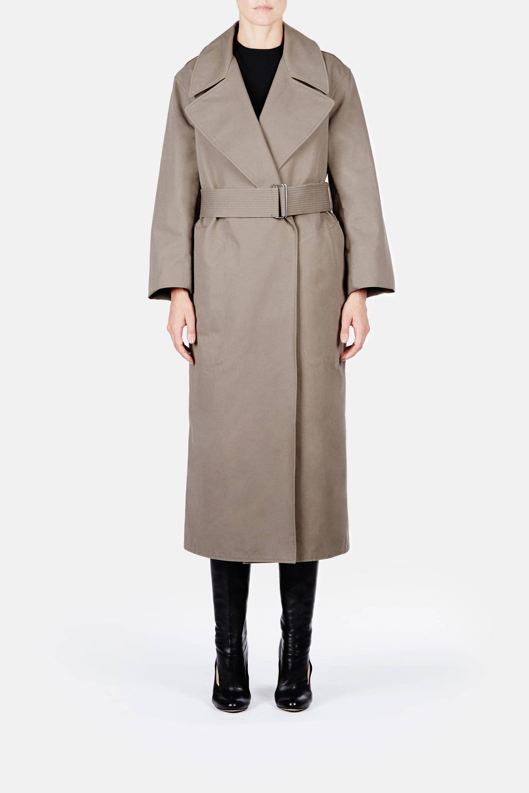 Trench Coat - Olive Grey