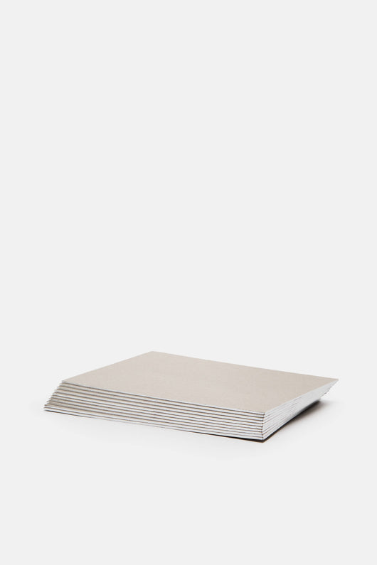 Grey Notecards with Silver Edge - Box of 16