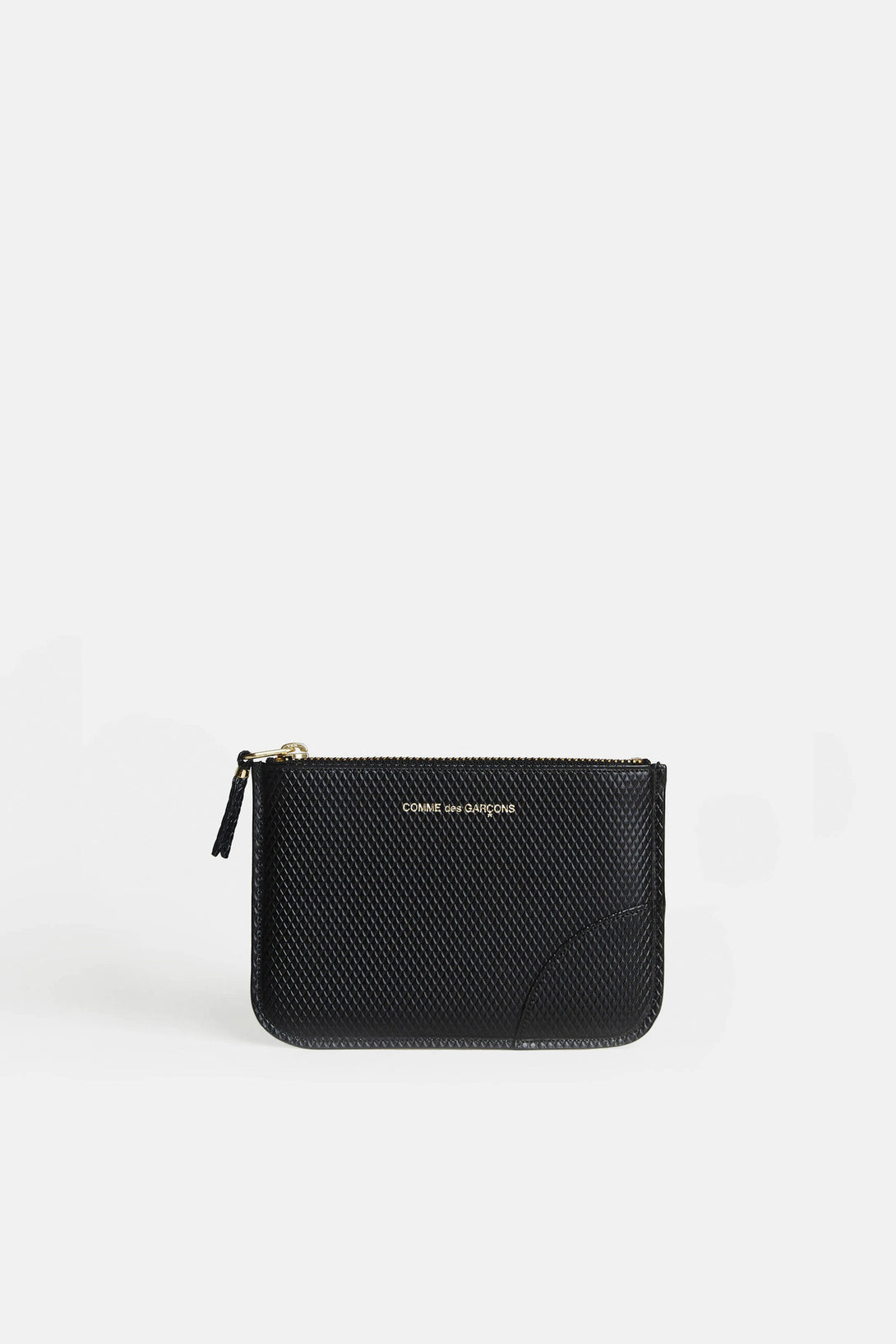 Luxury Small Zip Top Pouch - Black
