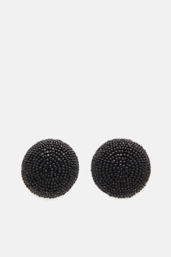 One-Ball Earrings - Black