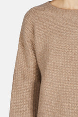 Sweater 03 Seed Stitch Sweater - Taupe
