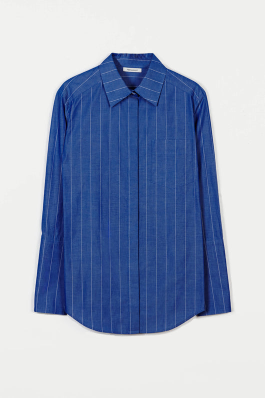 Shirt 01 Medium Body Dress Shirt - Blue Stripe
