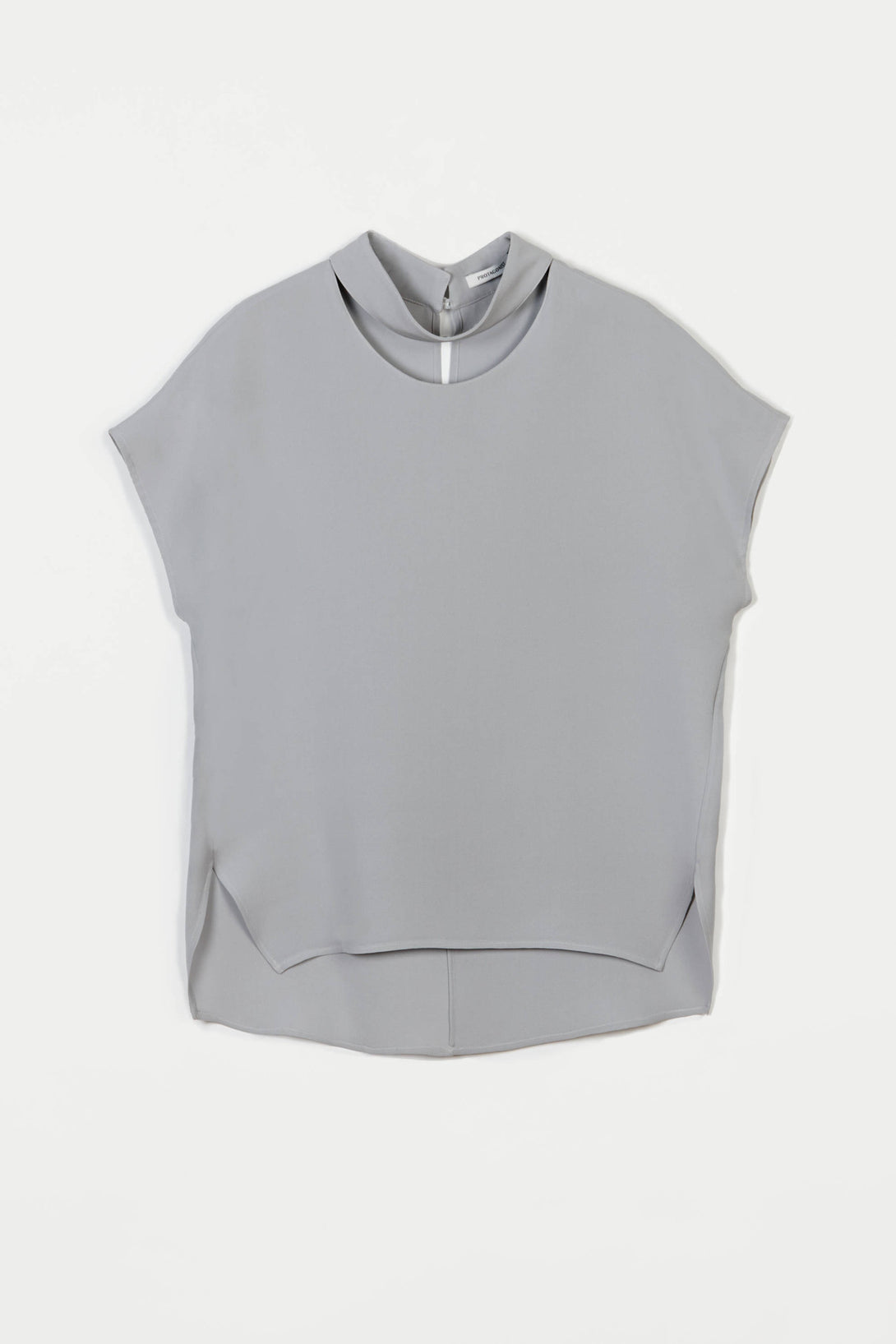 Shirt 04 Sleeveless Collarbone Blouse - Ash