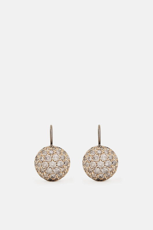Baby Sand Earrings - White Gold Natur/Oxid