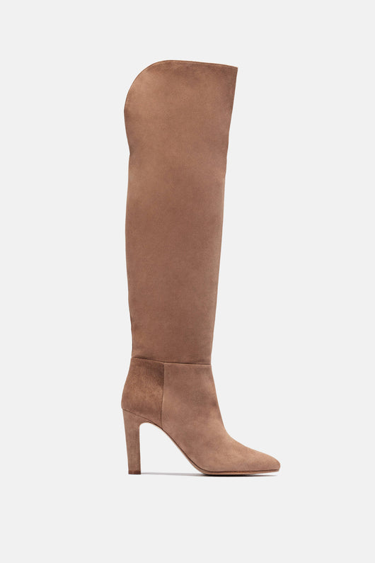 Linda Over The Knee Boot - Mink