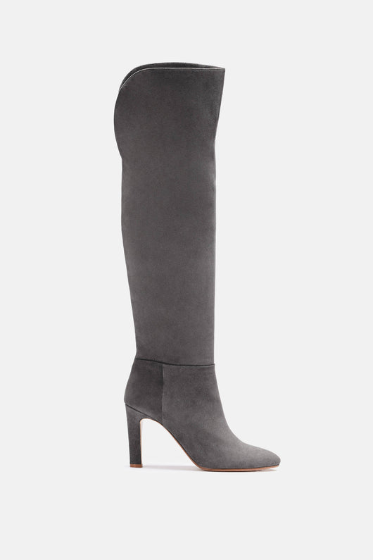 Linda Over The Knee Boot - Grey