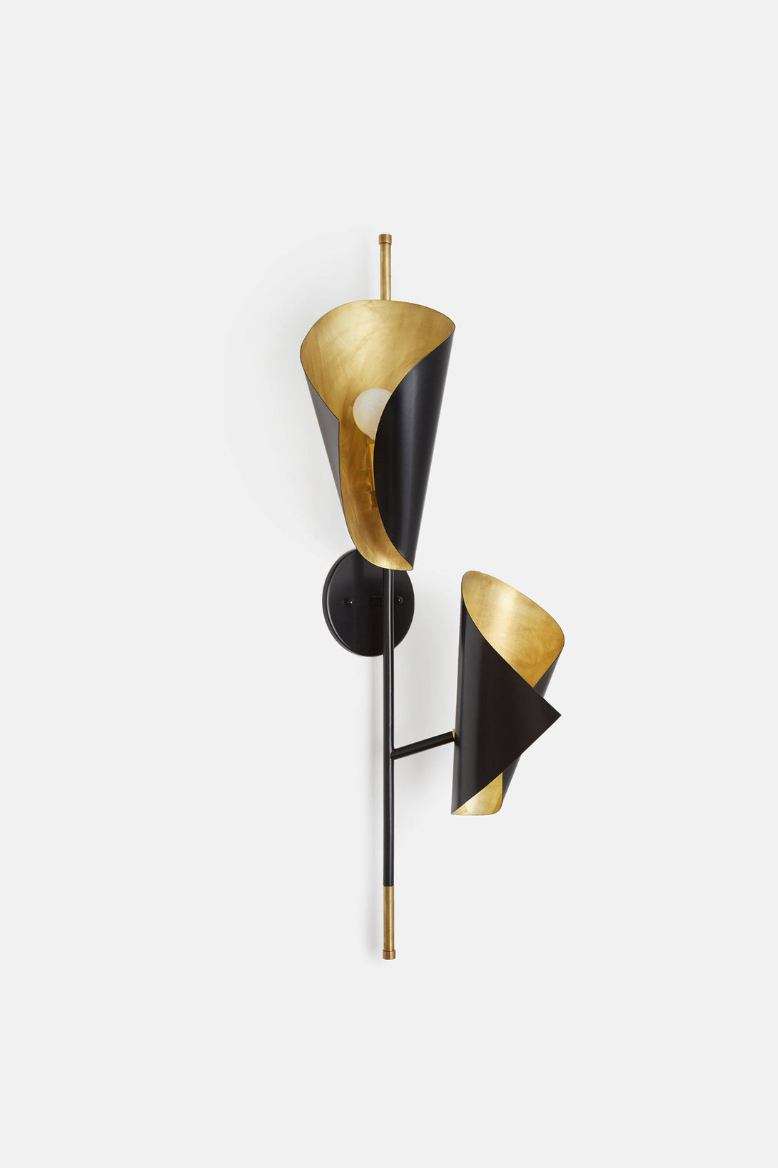 Black and Brass Cigale Twisting Sconce