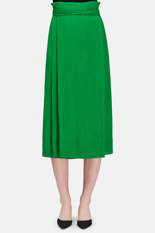 Skirt 26 Pleated Wrap Skirt - Kelly Green