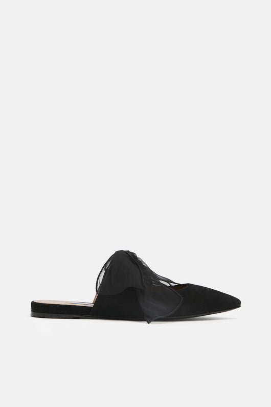Aida Bow Slide - Black