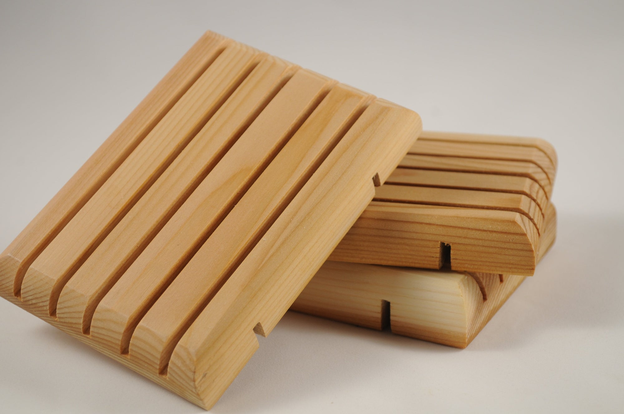 premium quality handcrafted water resistant cedar soap dishes sealed with butcher block oil
