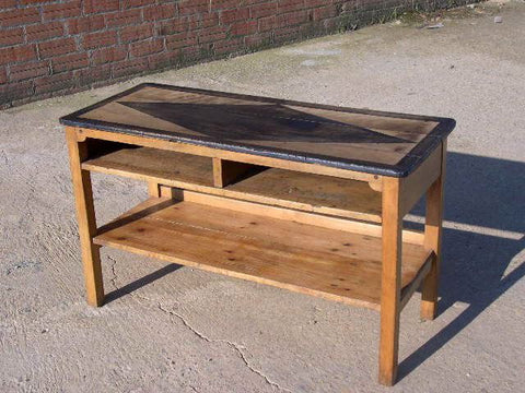 #5396, Small pine accent table with drawer