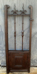 Antique single panel wrought iron garden gate