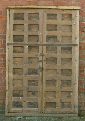 Antique Framed Honey Pine Door