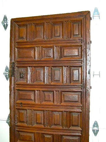 Antique raised-panel Castilian monastery cell door, pine