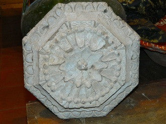 Antique gesso urn mold
