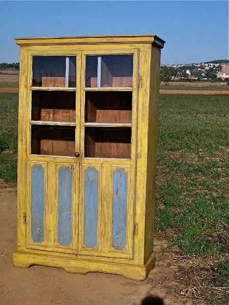 Prime Antique Painted Two Door Pantry Cabinet Pine Home Interior And Landscaping Fragforummapetitesourisinfo