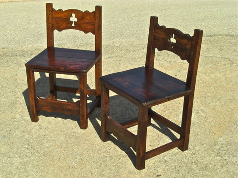 #5601, Pair of tavern chairs, birch and beech