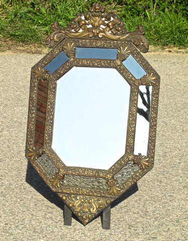 "Antique carved and gilt ""Fernandine"" mirror"