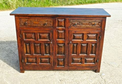 #5948, Two-door, two-drawer credenza, walnut