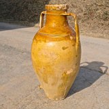 Antique large glazed two-handle wine jar