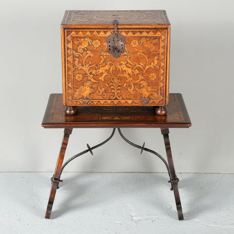 Antique inlaid Spanish colonial cedar vargueno