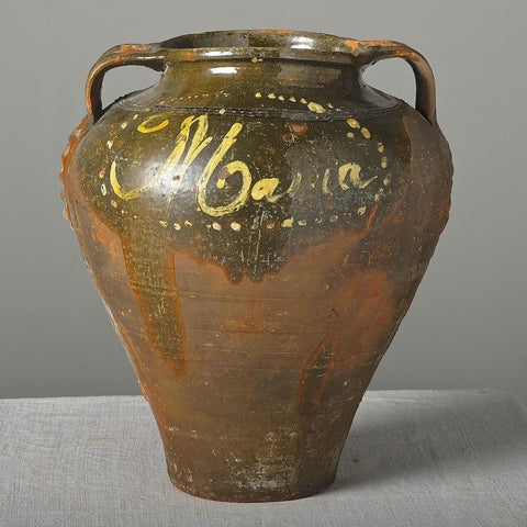 "Antique ""Avila"" clay urn"