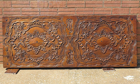 Carved antique Spanish colonial panel, cedar