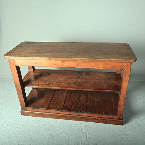 Antique walnut and pine store counter