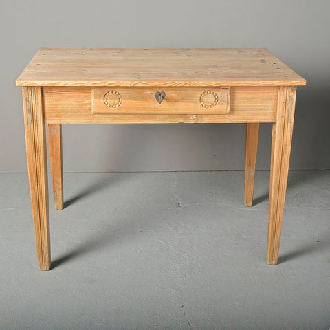 Rustic antique trestle leg game dressing table