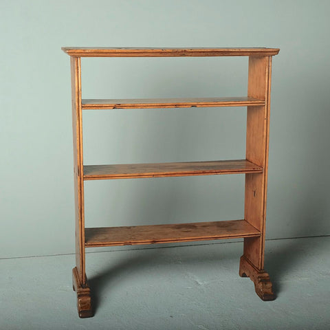 Antique tabletop bookcase, pine