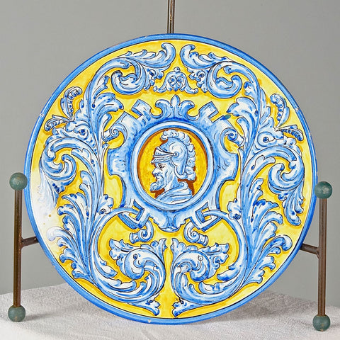 "Pair of antique painted Triana washbasins (""Lions"")"
