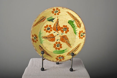 "Antique painted ""Barcelos"" majolica plate"