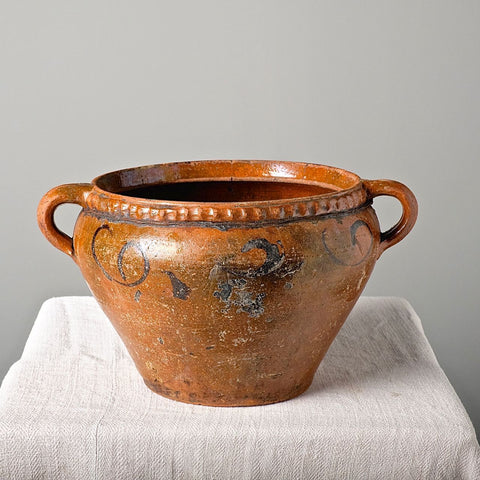 "Antique single-handle ""Séstrica"" terracotta water jug"