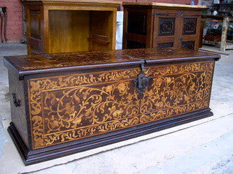 #ART-003 Inlaid Cedar & Boxwood Bride's Chest